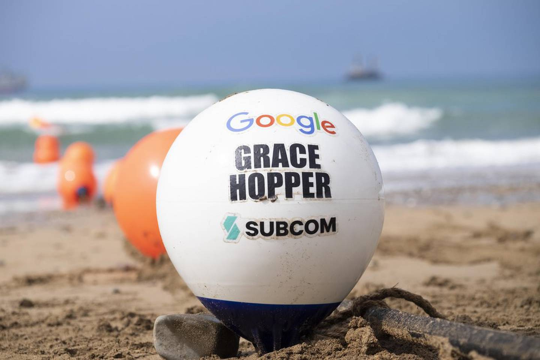 Boya del cable submarino de Google