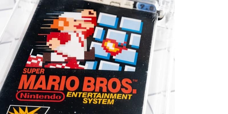 Nintendo: copia intacta de Super Mario Bros. para NES se subasta por una millonada