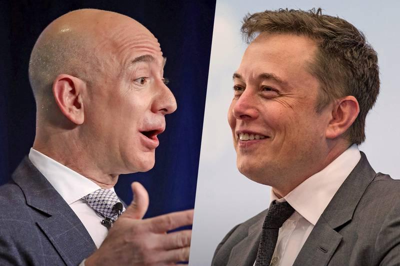 Jeff Bezos (Amazon) y Elon Musk (SpaceX) están enfrentados por la doble configuración de Starlink.